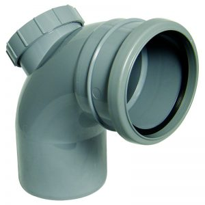 Floplast grey soil pipe fitting access bend