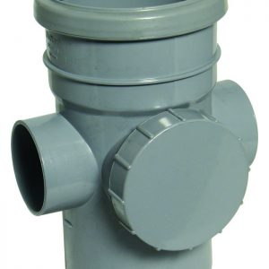Floplast grey pipe fitting access pipe
