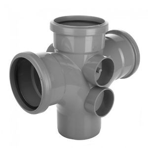 Floplasr grey soil pipe fitting double branch
