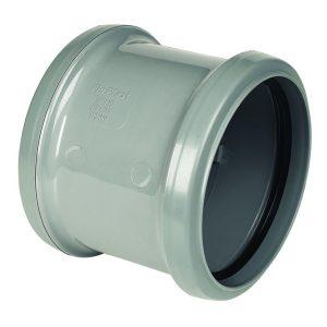 Floplast grey soil pipe fitting double socket coupler
