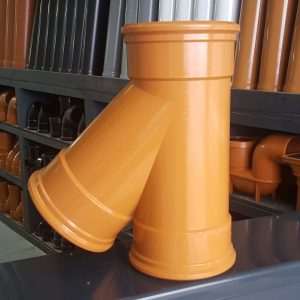 160mm Underground Drainage 45 branch triple