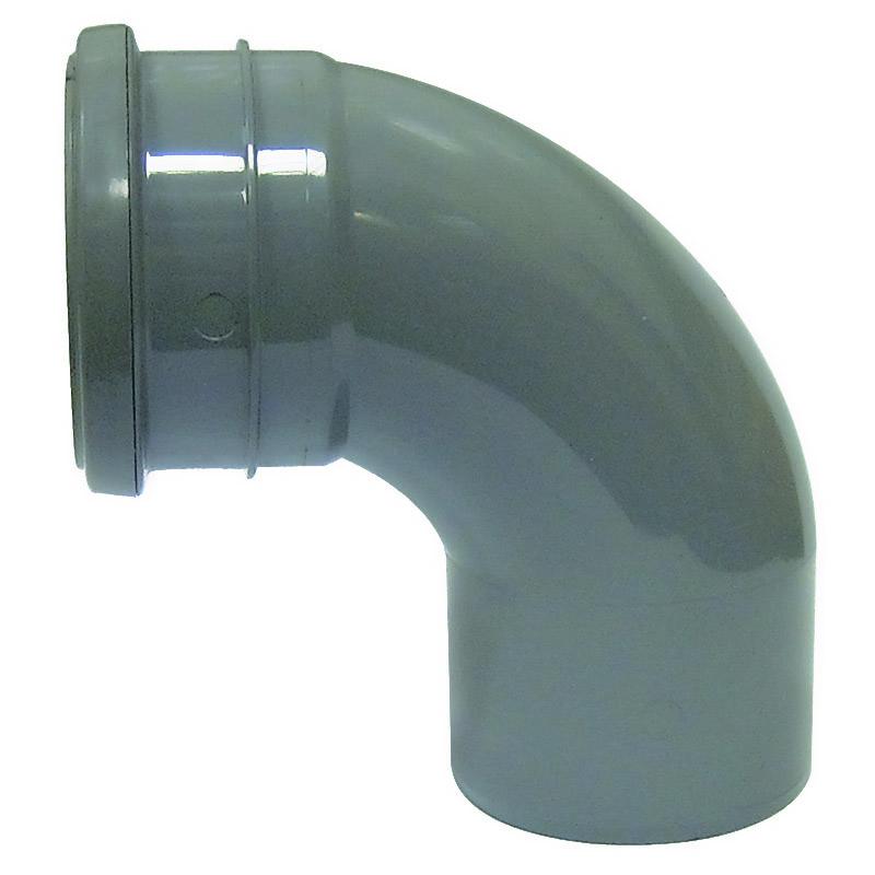 90 bend single socket Grey - CP Building Plastics