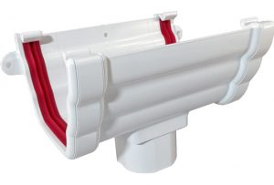 White Ogee Gutter Freefoam
